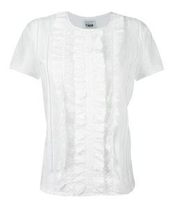 Twin-set | Eyelet Lace T-Shirt Small Cotton