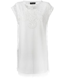 Twin-set | Lace Appliqué Elongated T-Shirt 44 Polyester/Polyamide