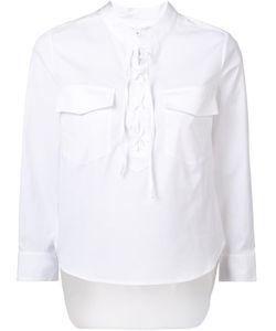Veronica Beard | Chest Pockets Shirt 8 Cotton/Spandex/Elastane