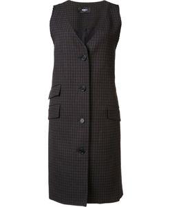 Yang Li | Checked Sleeveless Jacket 40 Virgin Wool
