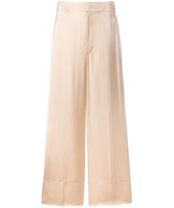 Helmut Lang | Wide-Leg Trousers 6 Silk/Viscose