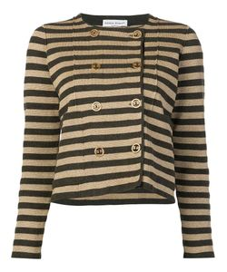 Sonia Rykiel | Striped Boxy Cardigan Large Cashmere/Wool