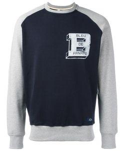 Bleu De Paname | Panelled Logo Sweatshirt Medium Cotton