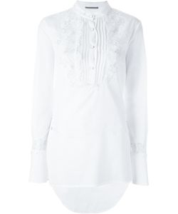 Ermanno Scervino | Embroidery Shirt 44 Cotton/Viscose/Polyamide/Silk