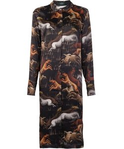 Alena Akhmadullina | Horse Shirt Dress 40 Silk