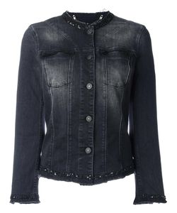 7 for all mankind | Collarless Denim Jacket Xs