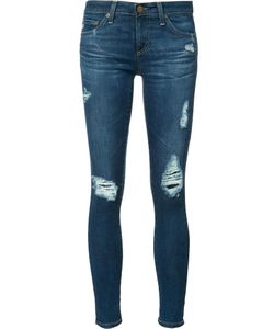 AG JEANS | Ripped Cropped Jeans 26 Cotton/Polyurethane
