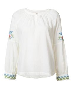 THE GREAT | Embroidered Sleeves Blouse 2 Cotton