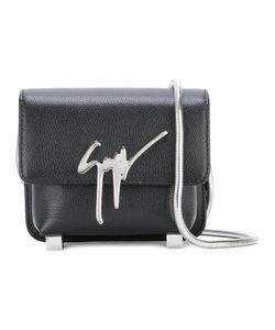 Giuseppe Zanotti Design   Flap Closure Crossbody Bag Leather/Triacetate