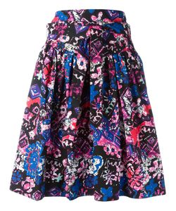 Marc Jacobs | Printed Ruffled Skirt 8 Cotton/Spandex/Elastane