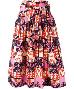 Marc Jacobs | Printed Gathered Skirt 2 Cotton/Spandex/Elastane