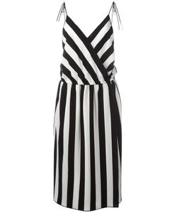 Marc Jacobs | Striped Mid Dress 8 Triacetate/Polyester/Silk