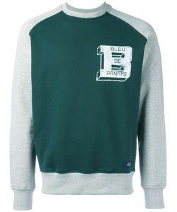 Bleu De Paname | Panelled Logo Sweatshirt Small Cotton