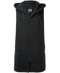 Y-3 | Sleeveless Hooded Jacket Medium Polyester/Spandex/Elastane