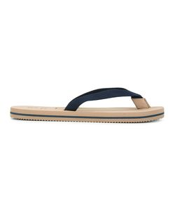 Brunello Cucinelli   Stripe Detail Flip Flops 43 Cotton/Rubber
