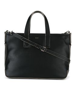 DKNY | Contrast Trim Tote Leather