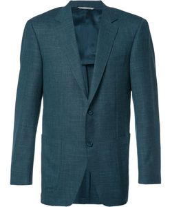 Canali | Button Up Blazer 58 Cupro/Silk/Linen/Flax/Wool