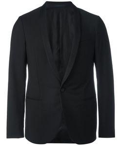 Lanvin | One Button Tuxedo Jacket 50 Wool/Silk/Polyester/Cupro