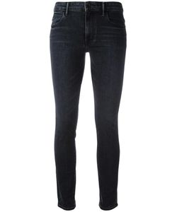 Helmut Lang | High-Waisted Cropped Jeans 28 Cotton/Spandex/Elastane/Polyester