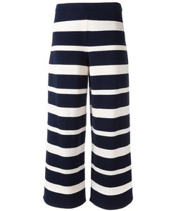 'S Max Mara | Wide-Legged Striped Trousers Large Polyester/Viscose