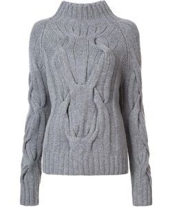 SALLY LAPOINTE | Cable Knit Jumper Xs/S Merino/Cashmere