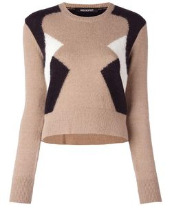 Neil Barrett   Geometric Colour Block Jumper Medium Nylon/Alpaca