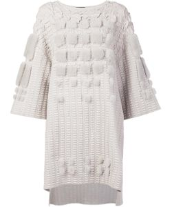 Alena Akhmadullina | Tunic Jumper 40 Cotton/Mink Fur/Wool/Viscose