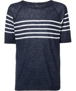 Eleventy | Striped Trim Sweatshirt Small Linen/Flax