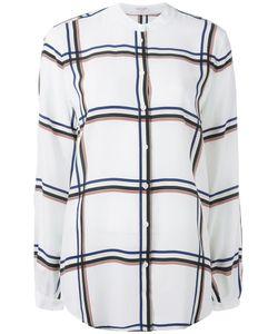 Equipment | Collarless Shirt Large Silk