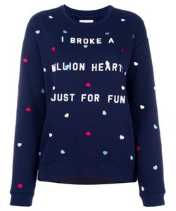 Zoe Karssen | Heart Embroidery Sweatshirt Medium Cotton/Polyester