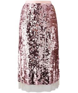 Tory Burch | Sequinned A-Line Skirt Small Polyamide/Spandex/Elastane/Polyester