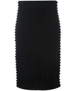 A.F.Vandevorst   Braid Trim Skirt 40 Wool