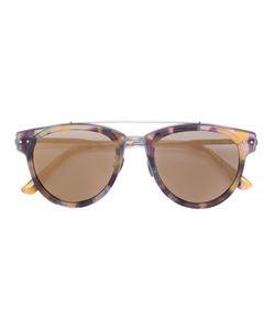 Bottega Veneta Eyewear | Round Frame Bar Sunglasses