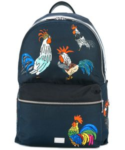 Dolce & Gabbana | Volcano Rooster Print Backpack Calf Leather/Polyamide