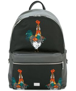 Dolce & Gabbana | Volcano Rooster Print Backpack Calf Leather