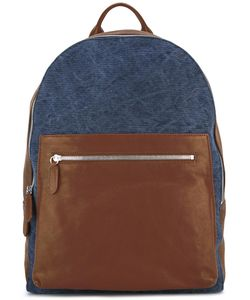 Eleventy | Leather Backpack Cotton/Suede/Leather