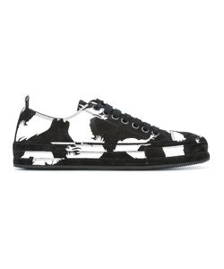 Ann Demeulemeester | Bird Print Sneakers 38.5 Leather/Rubber