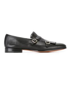 Santoni | Fringed Monk Shoes 7.5 Calf Leather/Leather