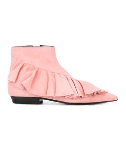 J.W. Anderson | J.W.Anderson Ruffled Boots 36 Goat Suede/Leather
