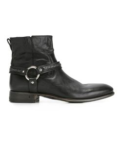 John Varvatos | Buckle Detail Ankle Boots 7 Leather