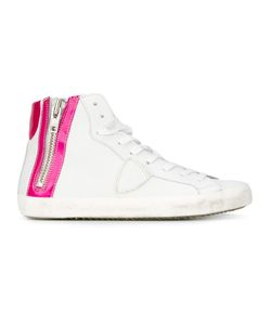 Philippe Model | Side Zip Hi-Top Sneakers 38 Leather/Cotton/Rubber