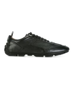 Bally | Perforated Texture Lace-Up Sneakers 6 Leather/Rubber