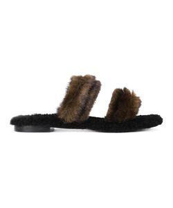 Avec Modération | Vail Sandals 39 Leather/Rubber/Mink Fur/Sheep Skin/Shearling