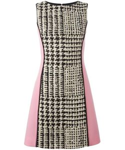 Fausto Puglisi | Panelled Houndstooth Dress 40 Acetate/Silk/Wool/Virgin Wool