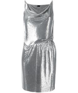 Paco Rabanne | Draped Mini Dress 36 Aluminium