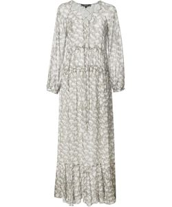 Derek Lam | Lace Up Maxi Dress 40 Silk