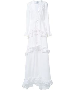 Rosie Assoulin | Twist Ruffle Drawstring Dress 6 Cotton