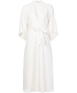 TOME | V-Neck Belted Dress 6 Silk