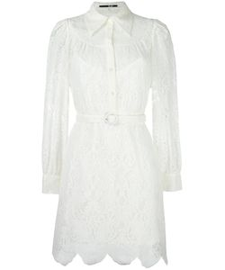 Mcq Alexander Mcqueen | Lace Shirt Dress 38 Cotton/Polyamide/Polyester