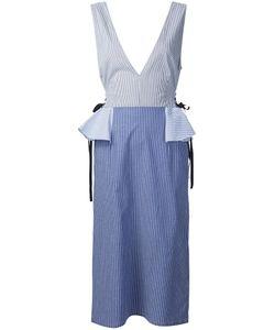 TOME | V-Neck Peplum Dress 4 Cotton